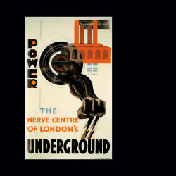 E. McKnight Kauffer, Power—the Nerve Center of London's Underground (1931).