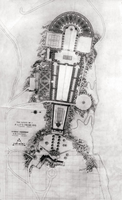 Herman Brookman's plan for the Fir Acres estate, 1924