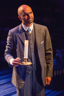 <strong>Baskerville</strong> at the Old Globe. Playing the role of Dr. Watson. Photo: Jim Cox