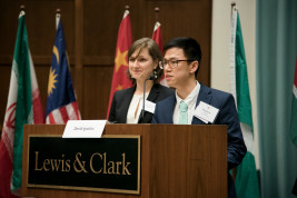 Student cochairs Masha Egorenko and Matthew Wong
