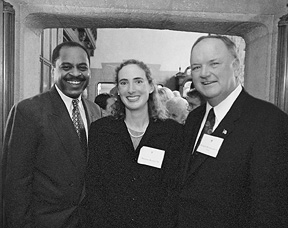 Randy Massengale '78, Nerissa Koehn '93, and Richard Woolworth '63.