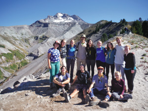 Paul Allen, associate professor of mathematics, led a trail engineering clinic on the Pacific Crest Trail. (College Outdoors)