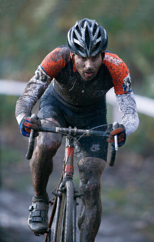 Tonkin in a cyclo-cross competition.