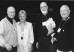 Stan Blair '51, Susan Cook Blair '51, Tom Trotta '51 and Bill Owens '51 prepare for the weekend f...