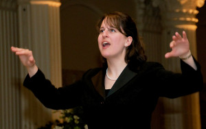 Katherine FitzGibbon, assistant professor of music and director of choral activities     Photo by...