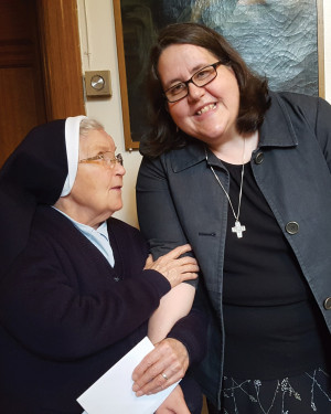 Sister Susan Rose Francois (right)