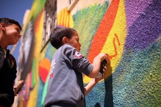 A young artist in Ajloun, Jordan (Photo by Samantha Robison BA '08)