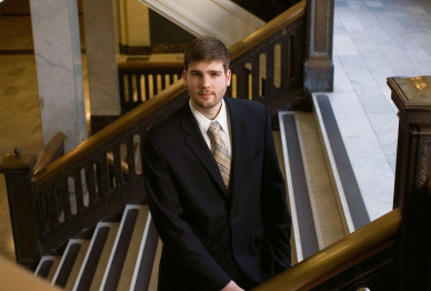 Mike Schmidt Law '08 prosecutes misdemeanor criminal cases at the Multnomah County Courthouse.