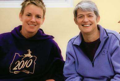 Jenny Osborne M.A.T. '94 and Becky Lukens M.A.T. '90, Ed.S. '10
