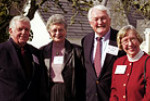 Rod Downey '50 (left) and his wife, Suzanne, were among 30 couples who enjoyed the Valentine'...