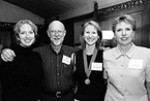 Right: Cindy Dawson, Doug Kunsman '70, Stephanie Kunsman '04, and Judy Jensen Kunsman '72.