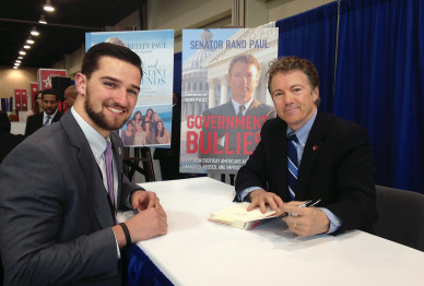 Lincoln Boyd at a book signing with Sen.Rand Paul (R-KY).
