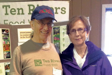 Harry MacCormack and his partner, Cheri Clark, attend a Fill Your Pantry event at Ten Rivers Food...