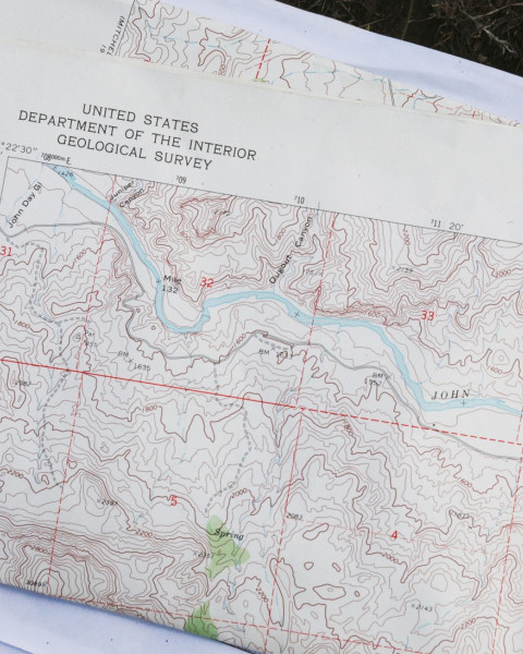 A U.S. Geological Survey topographic map that includes the landslide area