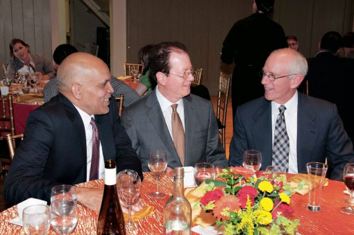 Grinnell College President Raynord Kington, Lewis & Clark President Barry Glassner, and Lewis...