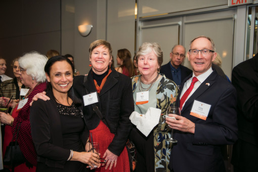 Amal Mansour, Ginger Moshofsky BA '83, Betty Burke BA '82, and Greg Caldwell.