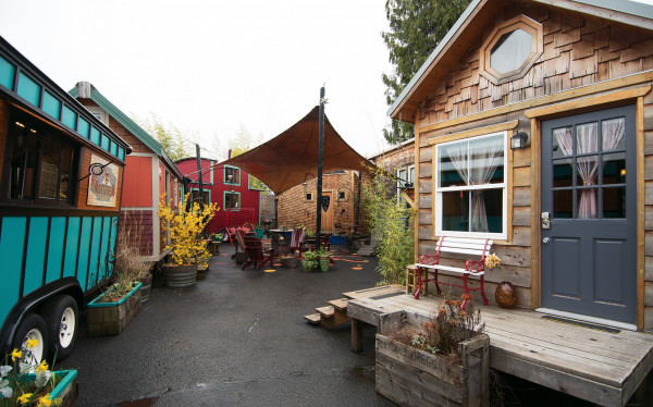 Delman is co-owner of Caravan−The Tiny House Hotel in Northeast Portland.