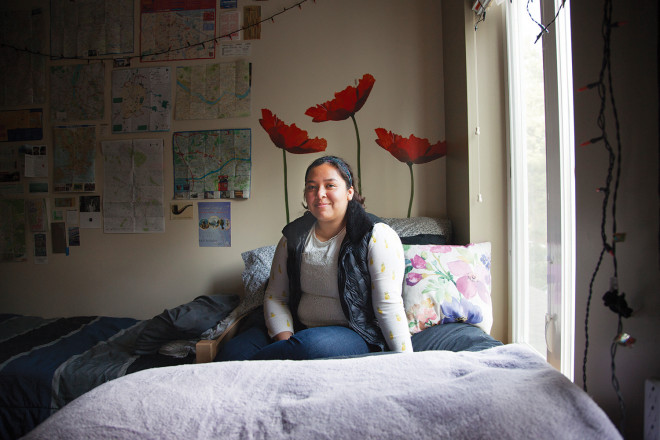 Michelle Garfias BA '16 (Casey Parks/The Oregonian)
