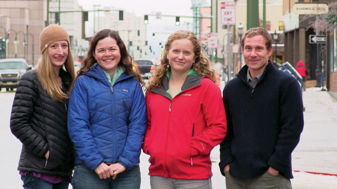 Lewis & Clark graduates working at Trustees for Alaska: Suzanne Bostrom J.D. '10, Brook Brisson J.D. '08, Katie Strong J.D. '08, and Brian Litmans J.D. '01.