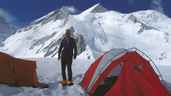 Camp 1 on Gasherbrum II, Gilgit-Baltistan, Pakistan