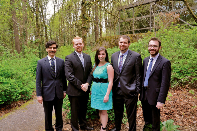 OVLA Venture Competition Team: Sean Clancy J.D. '14, Mark Banner J.D. '14, Amber Buker J.D. ⮮.