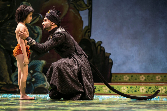 <strong>The Jungle Book</strong> at the Goodman Theatre. Playing the role of Bagheera. Photo: Liz Lauren