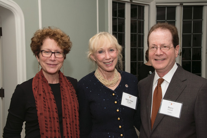 Betsy Amster, wife of the president; Mary Jean Thompson B.M.; and President Barry Glassner.
