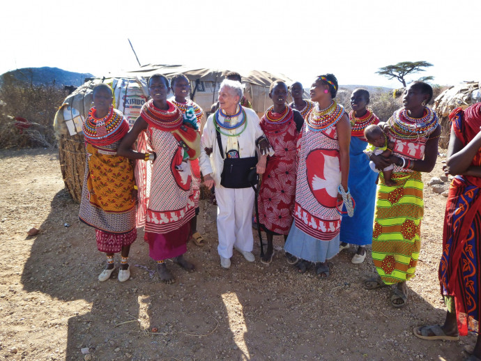 Turner has spent a lifetime traveling the world. She visited Kenya while in her early 90s (Photo courtesy of John Turner).