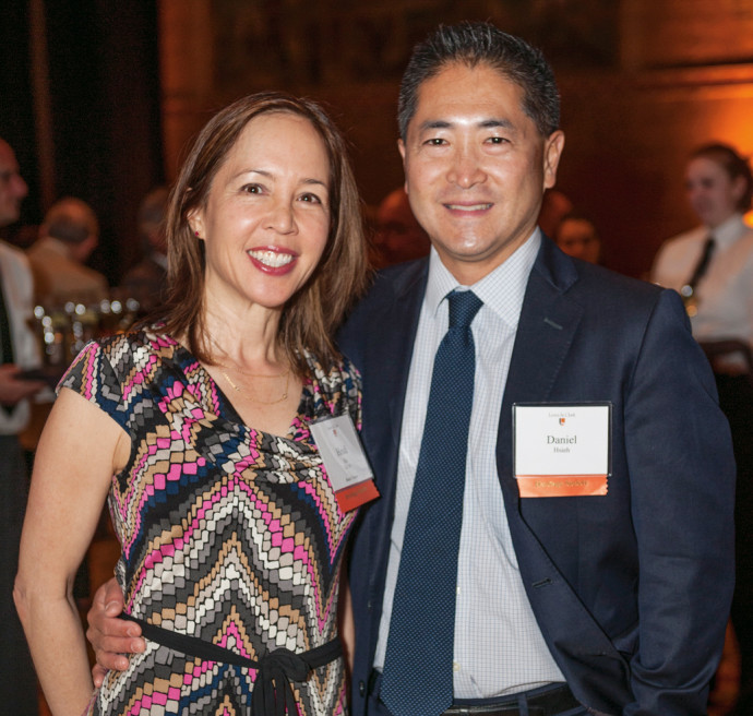 Trustee Heidi Hu BS '85 and husband Dan Hsieh