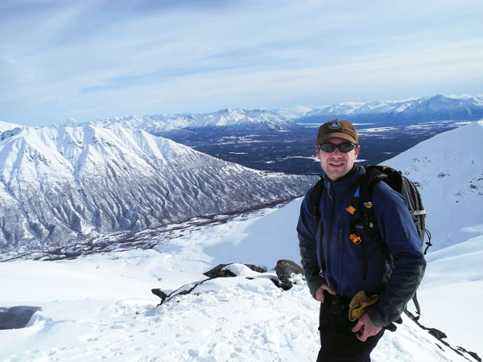 Brian Litmans J.D. '01, senior staff attorney for Trustees for Alaska, gets ready to make some ...
