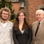 Zach Holz CAS '12, Alice Bourke CAS '13, and Steve Crow B.A. '66
