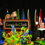 Installation Ceremony – Secretary of State Kate Brown J.D. '85 offered greetings from the Sta...