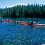 Students set out on their first day of kayaking on the south end of Waldo Lake.