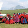 The Maasai gather for a mobile medical clinic at Ndulele.