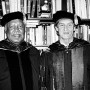 Left: Author Ernest Gaines (left) and Professor John F. Callahan. Lewis & Clark awarded Gaine...