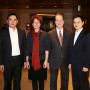 Jung Han Kim B.S. '96 (left) and his brother, Shin-han Kim CAS '98, enjoy the Seoul alumni ev...