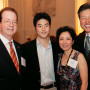 President Barry Glassner (left) with Shingo Ehara B.A. '13 and his parents, Nobuyoshi and Kayok...