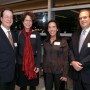 President Barry Glassner and his wife, Betsy Amster, with Trustee Ruth Sigal and her husband, Ell...