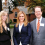 ASLC President Callie Rice CAS '14, Samantha Bee, and President Barry Glassner