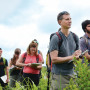 Associate Professor Andrew Bernstein and students conduct field research in area grasslands.