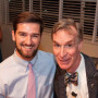 ASLC President Lincoln Boyd CAS '15 and Bill Nye.