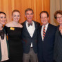 Bill Nye (center) with Sierra Adler CAS '16 , Cassidy Rice CAS '16, and President Barry Glass...