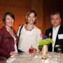 Parents Sara Rothert B.A. '84 and husband Tian Jin Ren with phonathon student worker Melanie To...