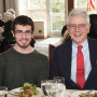 Anthony Utehs CAS '17 and Life Trustee Robert Ridgley.