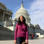 Haben and her companion Maxine at the U.S. Capitol.