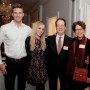 Nathan Romine B.A. '14 and Callie Rice B.A. '14 with President Barry Glassner and his wife, B...