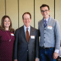 President Barry Glassner (center) with Lisa Whittemore J.D. '13 and Josh Schroeder J.D. '13.