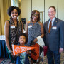 ORANGE COUNTY: Lewis & Clark parent Sherril D'Espyne (right) with Shiloh D'Espyne and fut...