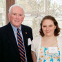 Life Trustee Ron Ragen and Elizabeth Armitage CAS '17.