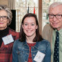 Susan Sack B.A. '59, Ashley Wamboldt B.A. '16, and Dr. Bill Sack B.S. '56.
